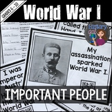 World War I (World War 1) Key People Scavenger Hunt