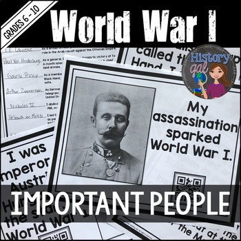 World War I (World War 1) Key People Scavenger Hunt