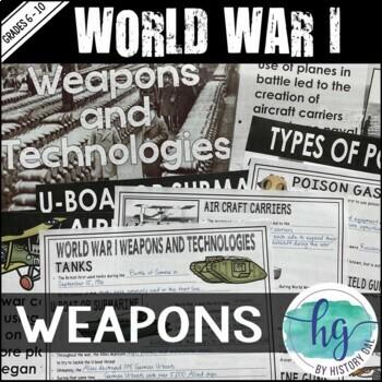 World War I (World War 1) Weapons
