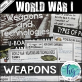 World War I Weapons PowerPoint and Guided Notes (Print and Digital)