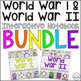 World War I & World War II Interactive Notebook and Graphic Organizers Bundle