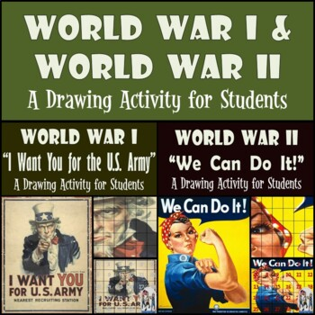 World War I & World War II - Uncle Sam & Rosie the Riveter Propaganda Recreation