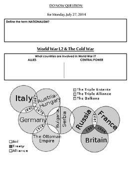 World War I, World War II, and the Cold War (NYS Regents Aligned)