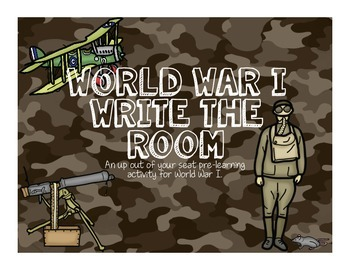World War I Write the Room
