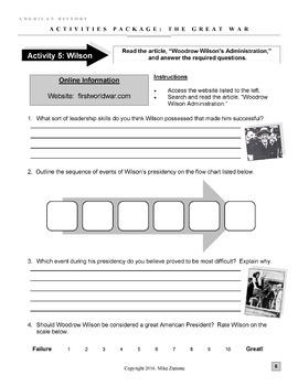 World War I and America Bundle - 47 Pages/Slides of Fun Stuff!