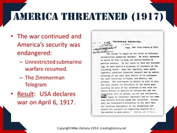 World War I and America - Clear and Attractive Powerpoint - 8 Slides