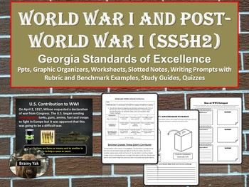 World War I and Post-World War I America SS5H2