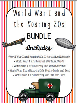 World War I and Roaring 20s BUNDLE