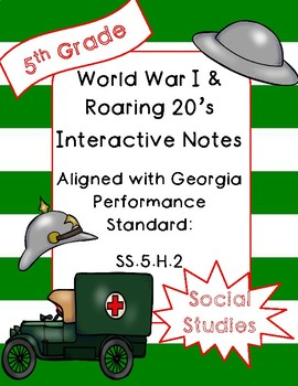 World War I and Roaring 20's Interactive Notebook