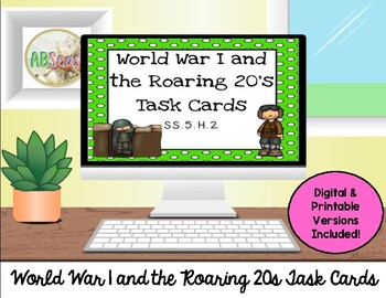 World War I and Roaring 20s Task Cards