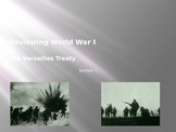World War I and Versailles Treaty Review