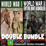 World War I Unit & World War 2 Unit -PowerPoints, Worksheets, Lesson Plan+Tests