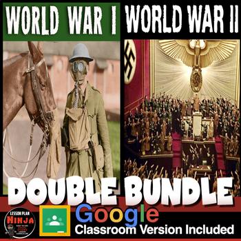 World War I Unit & World War 2 Unit -PowerPoints, Workshee