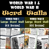 World War I and World War II Word Walls Bundle