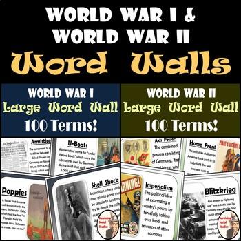 World War I and World War II Word Walls Bundle