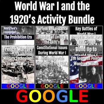 World War I and the 1920's Activity Bundle