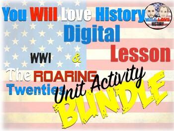 World War I and Roaring Twenties Digital Unit Activity Bundle (ACTIVITIES ONLY)