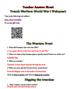 World War I by the Numbers Worksheet