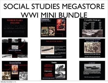 World War I WWI 1914-1918 MINI BUNDLE