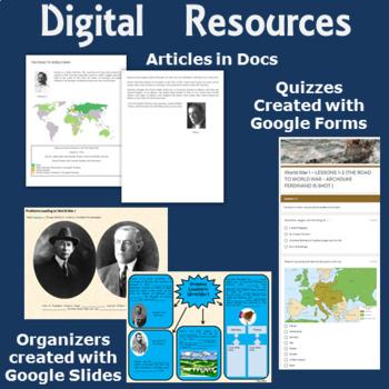 World War I & Twenties Digital Unit + Printable Lapbook | Distance Learning