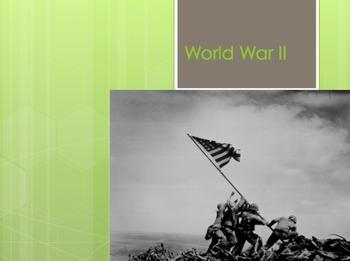 World War II 2 WWII Interactive Unit w/ Quizzes ppt *Lots
