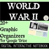 World War II 20+ Digital Interactive Notebook Graphic Organizers