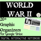 World War 2 Digital Notebook 20+ Graphic Organizers