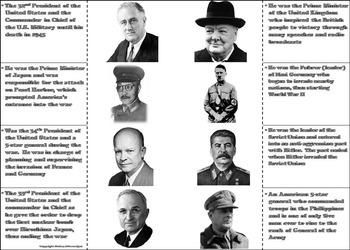 World War 2 Activity (Franklin Roosevelt, Pearl Harbor, etc) WWII
