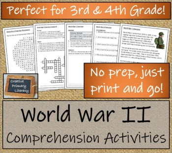 World War II - 3rd Grade & 4th Grade Close Reading Activity