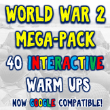 World War II 40 DBQ Warm Ups Bellringers Mega-Pack Bundle!