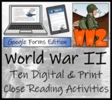World War II 5th Grade & 6th Grade Close Reading & Distanc