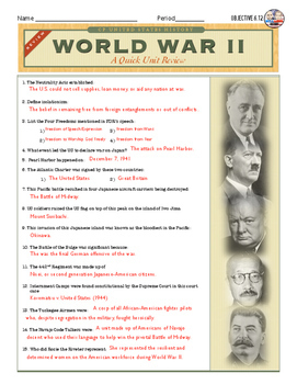 World War II: A Quick Review