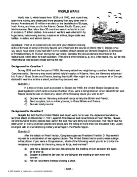 World War II, AMER HIST LESSON 130 of 150, Making Wartime Decisions+Contest+Quiz