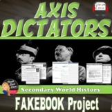 """World War II: AXIS Dictator Biographies and """"Fakebook"""" Activity"""
