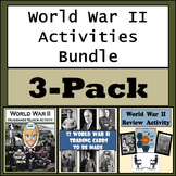 World War II Activities Bundle - Trading Cards, Game Show Review, & Headbands