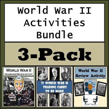 World War II Activities Bundle - Trading Cards, Game Show