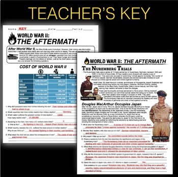 World War 2 Aftermath Informational Text Chart Analysis Wwii