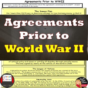 World War II: Agreements Prior to War