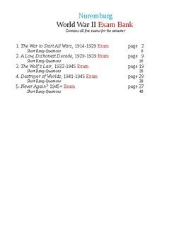 World War II All Five Semester Exams