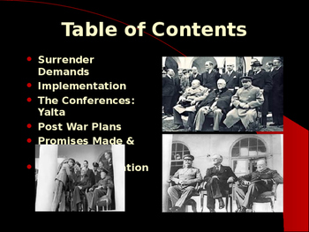 World War II - Allied Political Leaders -The Big Three - Conferences