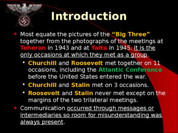 World War II - Allied Political Leaders - The Big Three - Conferences