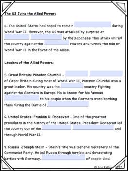 World War II Allied Powers Internet Scavenger Hunt WebQuest Activity