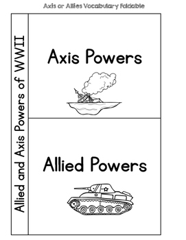 World War II: Allied or Axis Powers {Interactive Vocabulary Sort}