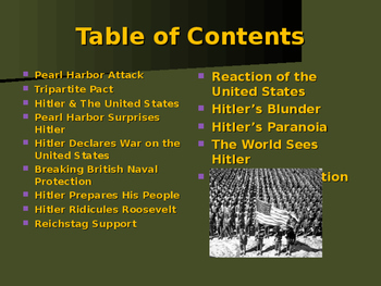 World War II - The United States Enters The War