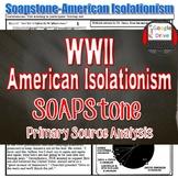World War II – American Isolationism Primary Source Analys