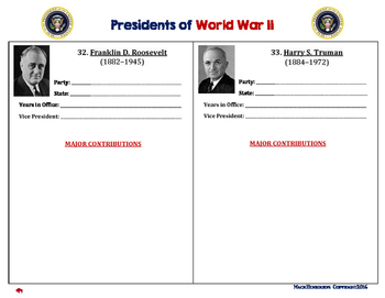 World War II: American Presidents