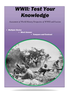 World War II - Assessment for World History - Multiple Cho