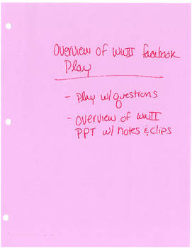 World War II: Atomic Bomb Debate, Weapons Chemical & bio, Overview assignment