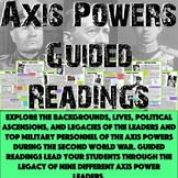 World War II - Axis Powers Guided Reading Bundle!