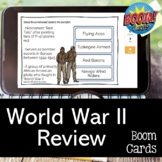 World War II BOOM CARDS for US History STAAR EOC Test Review